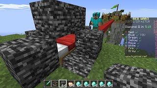 Minecraft Bedwars but I secretly used CREATIVE MODE...