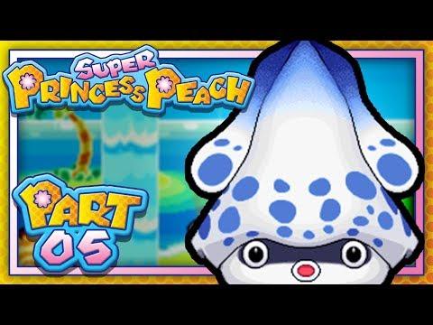 Super Princess Peach:  Part 5 - World 5 - Wavy Beach! (Let's Play)