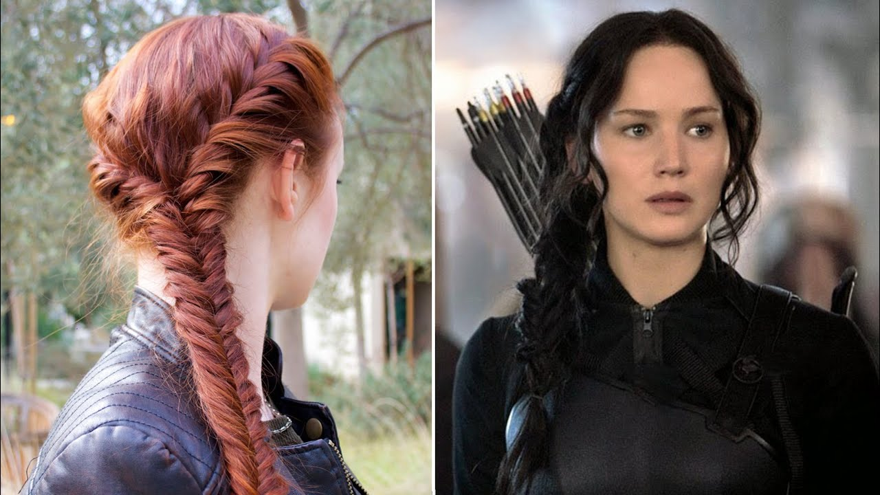 hunger games hair tutorial katniss mockingjay battle
