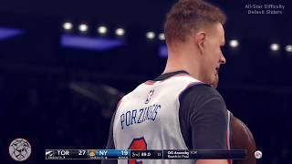 NBA Live 18: Raptors vs Knicks At MSG - Default Sliders