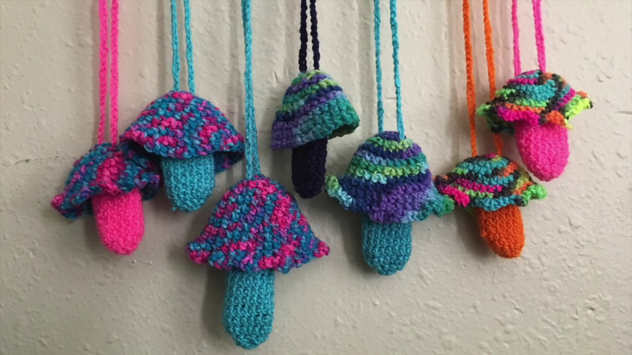 Diy Crochet Mushroom Lighter Holders Youtube