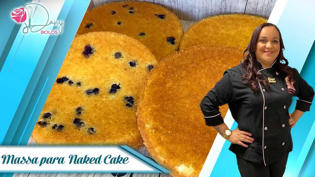 Massa PODEROSA e Fofinha para Naked Cake