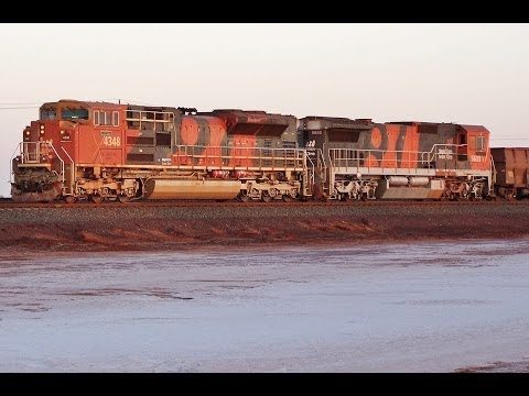 Port Hedland in Western Australia has Australia's Heaviest Iron Trains