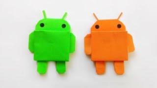 Origami Android Robot /พับกระดาษ หุ่นยนต์แอนดรอย