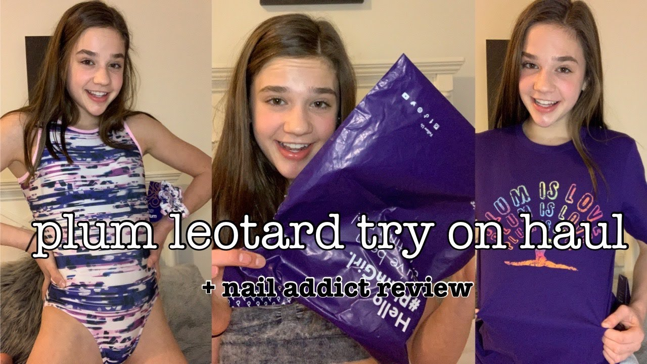 plum leotard try on haul   review! | nail addict unboxing   review