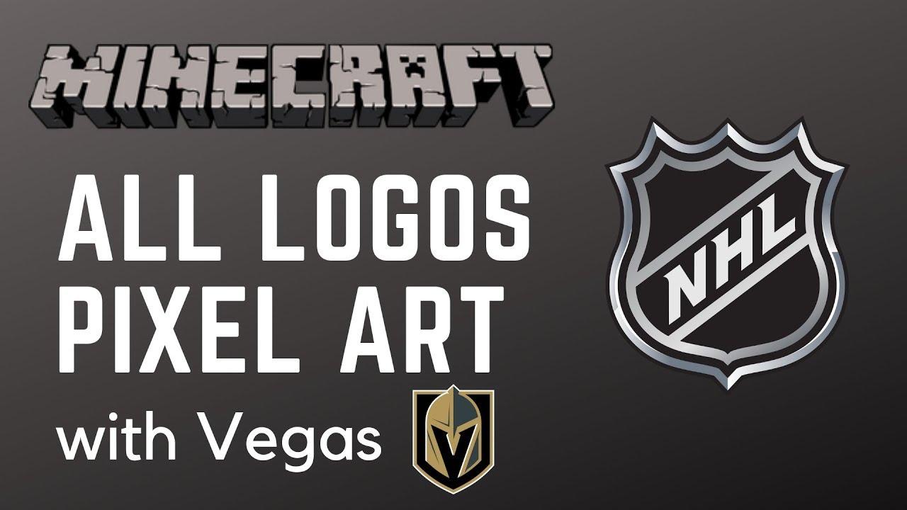 Minecraft All Nhl Logos Pixel Art With Vegas Youtube