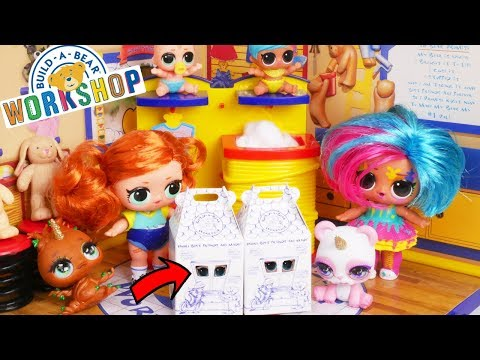 LOL Surprise Unboxed! Dolls visit Build A Bear Factory for New Toys on Valentines Day