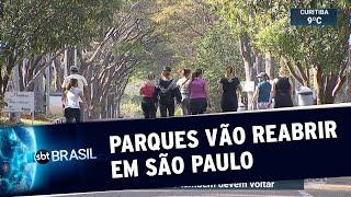 Parques, academia, cinema e teatro vão reabrir em São Paulo | SBT Brasil (09/07/20)