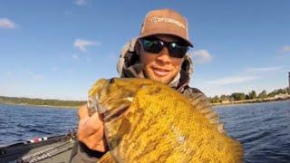 palaniuk forced to release giant smallmouth during bassmaster aoy event escanaba