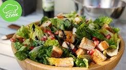 Gemischter Salat mit Granatapfel | Balsamico Dressing | Einfacher Salat