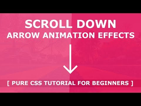 Css Scroll Down Animation - Pure Css3 Animation Effects - Custom Scroll Down Indicator Tutorial