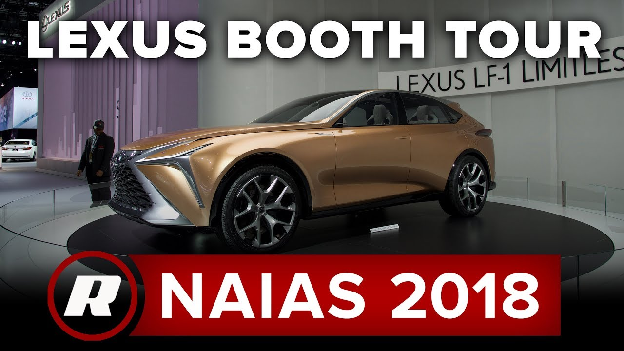 Lexus Booth - Tour the floor of the 2018 Detroit Auto Show - Dauer: 4 Minuten, 29 Sekunden