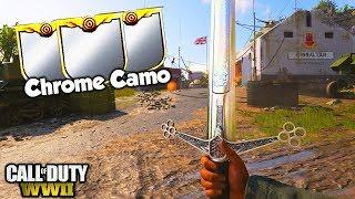 UNLOCKING CHROME CAMO ON THE HEROIC CLAYMORE SWORD in COD WW2!!