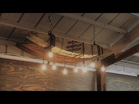 Reclaimed Beam Edison Chandelier How to : Step by Step DIY