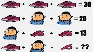 Can you solve this shoes whistle and man puzzle ?