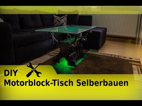 DIY Motorblock Tisch Selberbauen