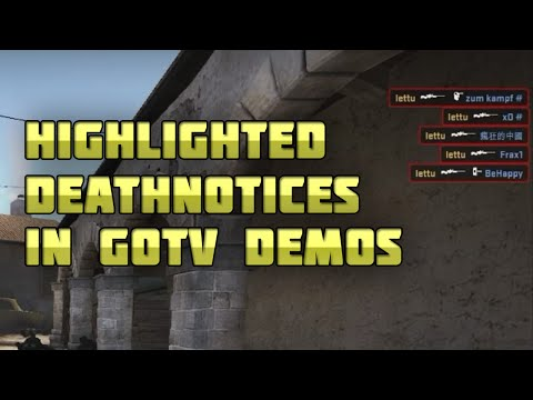 how to change deathnotices in csgo