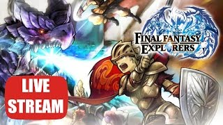 Final Fantasy Explorers 3DS LIVE STREAMED - Online Multiplayer Co Op With Viewers / Subs