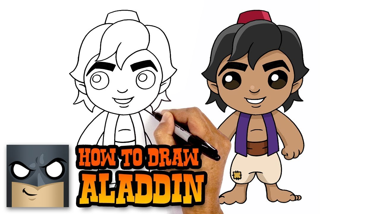 How to draw aladdin easy step by step tutorial