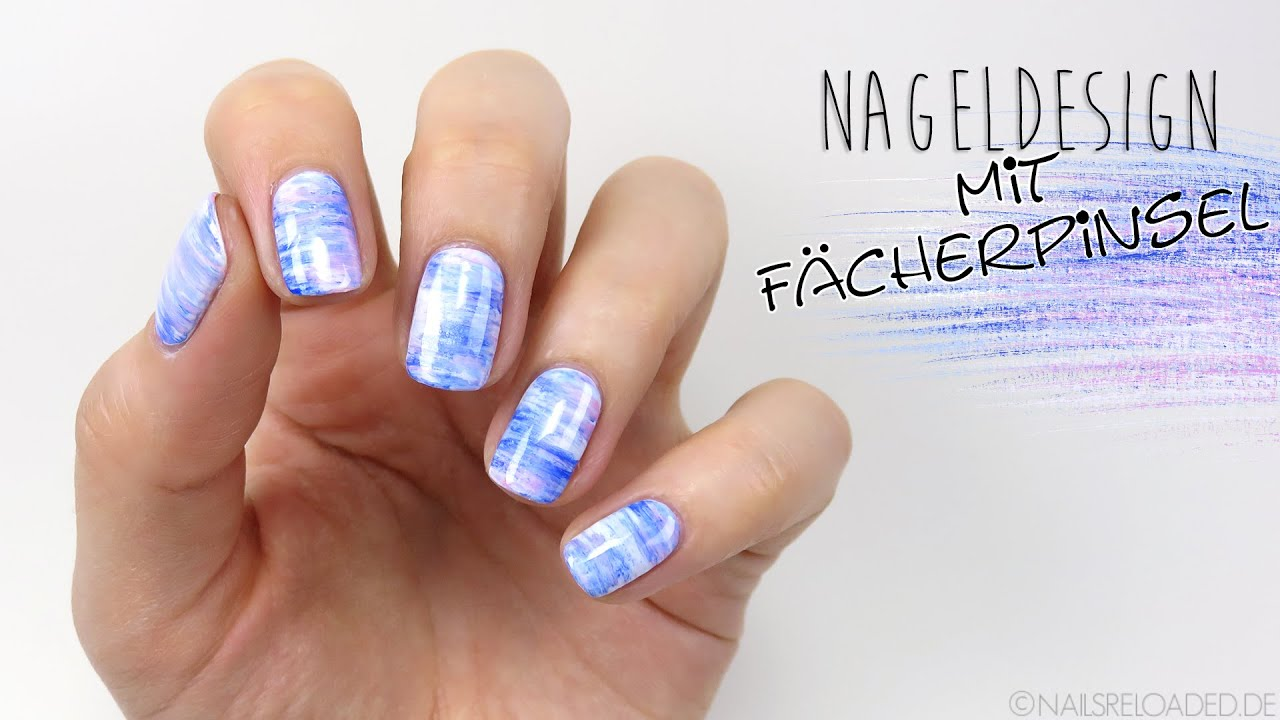 nageldesign mit f cherpinsel youtube
