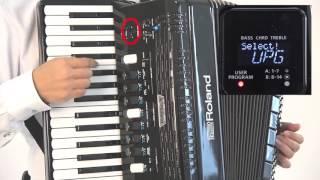 Roland FR-4x/FR-4xb V-harmonika »Shranjevanje in priklic priljubljenih zvokov in nastavitev (uporabniški programi)«