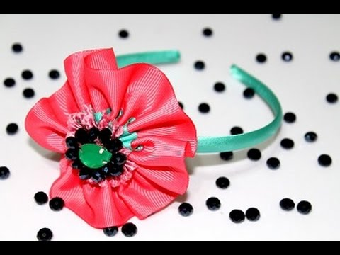 Tutorialcerchietto Per Capelli Con Il Fiore Rosa Fai Da Tehairband Handmade