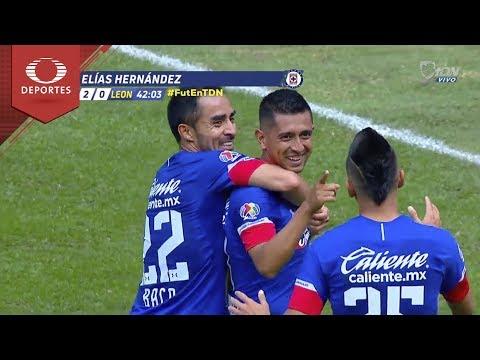 Doblete de Elías Hernández   Cruz Azul 2 - 0 León   Apertura 2018 - J5   Televisa Deportes