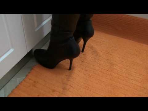 My wife wearing black leather hidden platform high heel sexy boots from YouTube · Duration:  16 seconds