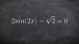 Solving for all solutions of sine with a multiple angle
