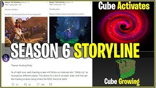 'NOUVEAU' Fortnite: SEASON 6 STORYLINE 'expliqué' (Cube GROWING AND LEAKED Loading Screens)
