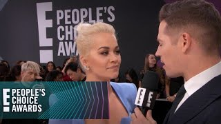 Watch Rita Ora's Interview on the 2018 E! PCAs Red Carpet | E! People's Choice Awards