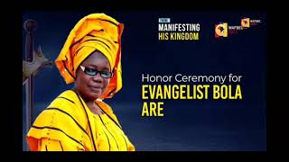 Honor Ceremony for Evangelist Bola Are by Pastor Poju Oyemade at WAFBEC 2021, The Covenant Nation