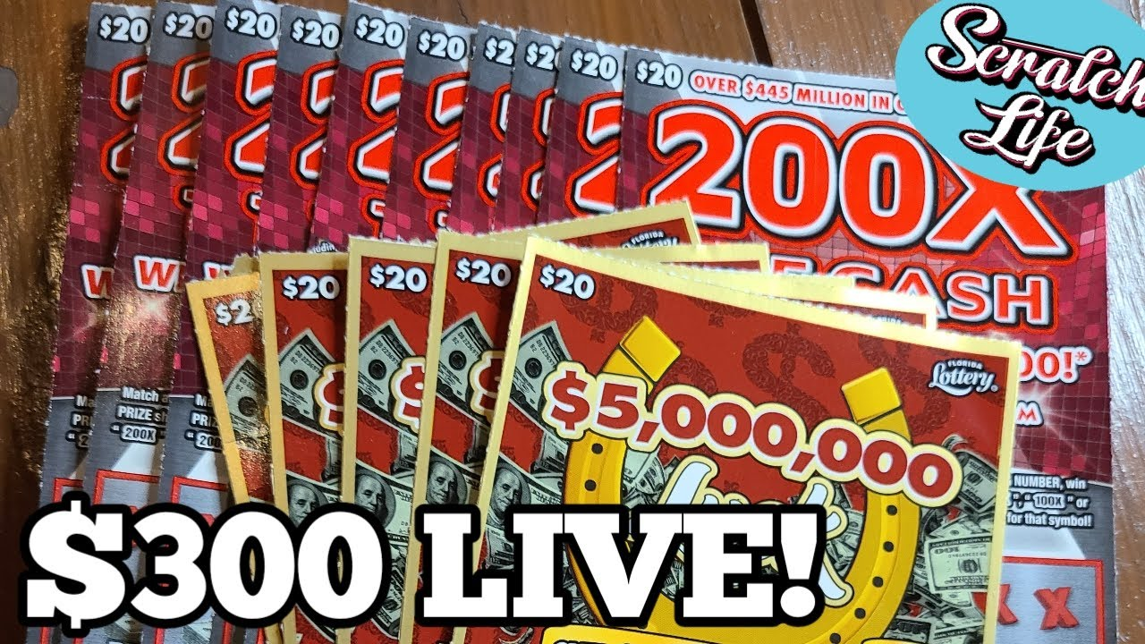 $300 TOTAL!! All in $20 Tickets   FLORIDA LOTTERY VS SCRATCH LIFE