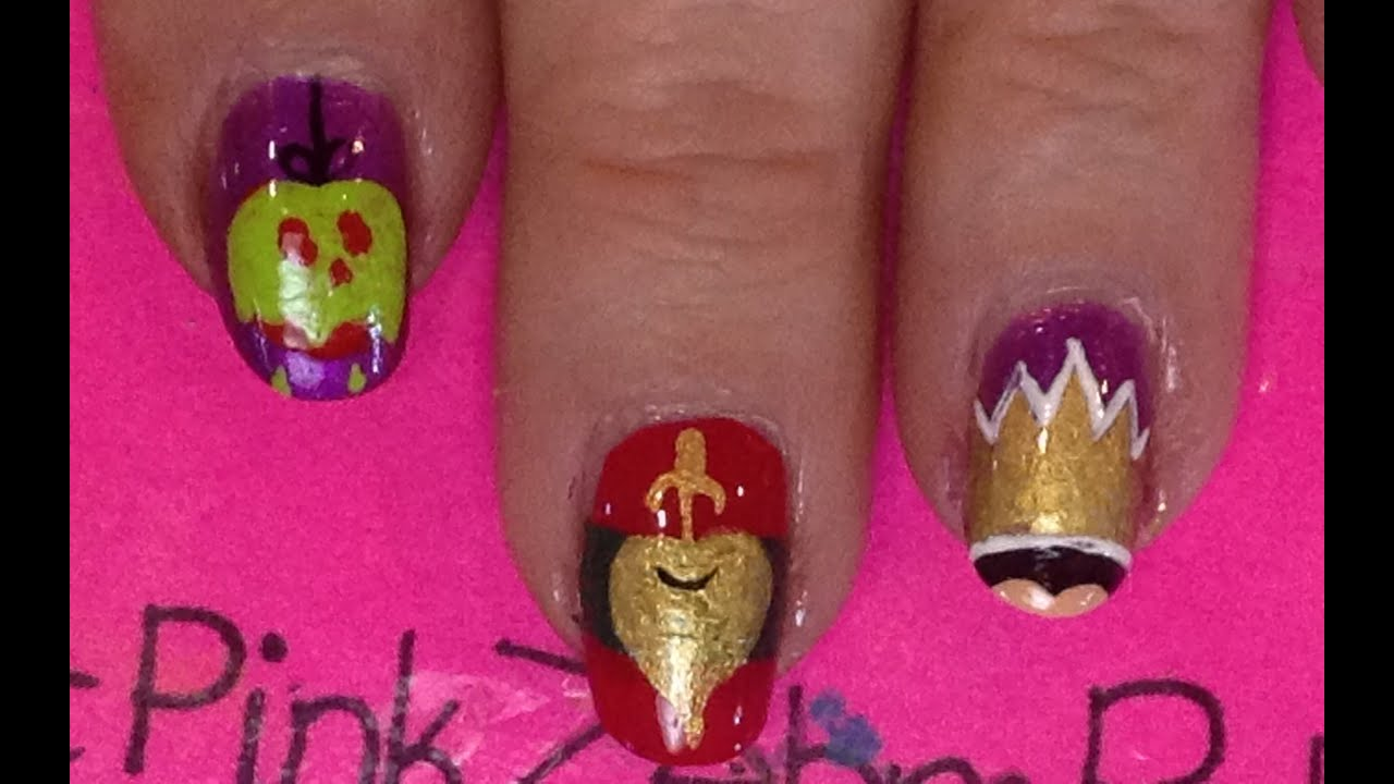 Disney Villains ~ Evil Queen Nail Art Tutorial - YouTube