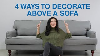 4 Ways To Decorate Above A Sofa | MF Home TV