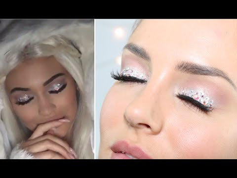 Kylie Jenner \'Snow Angel\' Halloween Crystal Eye Makeup - YouTube