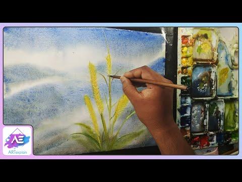 Beautiful landscape watercolor painting by Art Explain