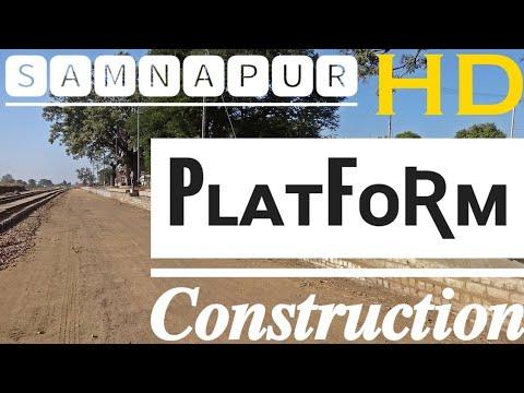 Construction of Platform and Building at Samnapur Railway Station