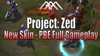 PROJECT: Zed Gameplay - PBE - League of Legends
