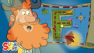 "A Fantastic Adventure on ""F"" Island |  Captain Seasalt And The ABC Pirates | Educational Cartoon"