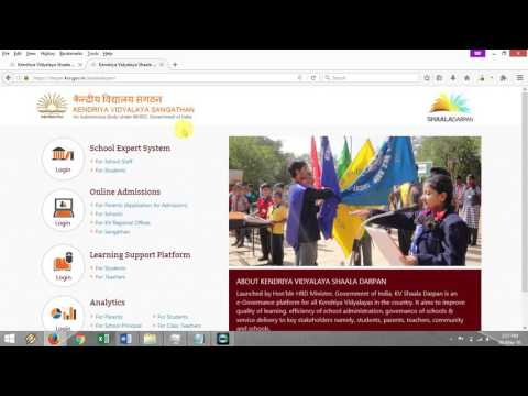 KV Shaala Darpan Login Page Introduction - New