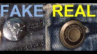 Real vs Fake Calvin Klein jeans. How to spot fake Calvin Klein