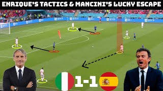 Tactical Analysis : Italy 1 – 1 Spain | How Enrique Dominated Mancini