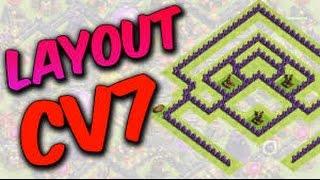 Clash of clans: Layout para cv 7 atualizado (Protege o elixir negro)