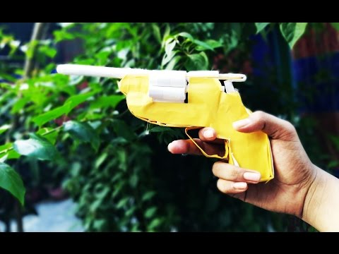 How to make a Paper Revolver using Paper -best toys
