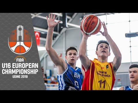 North Macedonia V Bosnia And Herzegovina - Full Game - FIBA U16 European Championship 2019