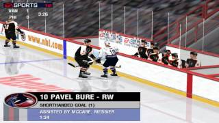 NHL 99 (PC) gameplay - dirty game, RIP referee