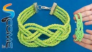 Fare un braccialetto verde con nodo da marinaio