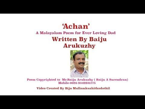 'Achan' - Kavitha Written By Baiju Arukuzhy