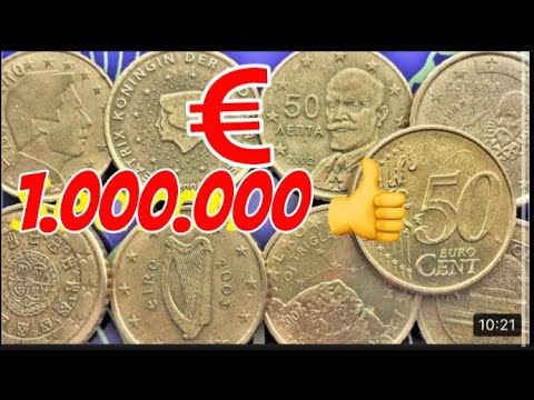 50 Euro Cent Belgium Luxembourg France Germany Greece Italy Netherland Spain Austria Slovenia Coin